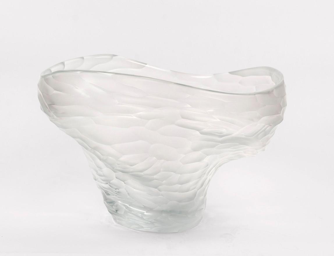 Carved Clear Vase, 2019