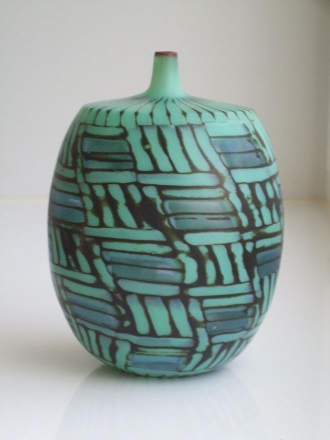 """Mosaico in verde-giada"" Vase, 1999"