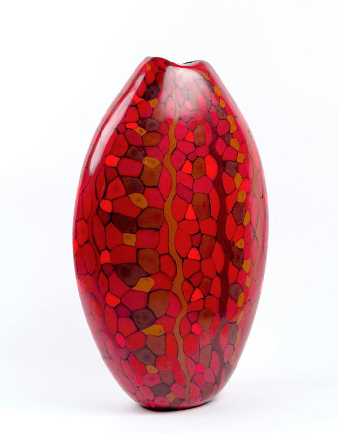 Carved Red Vase, 2019