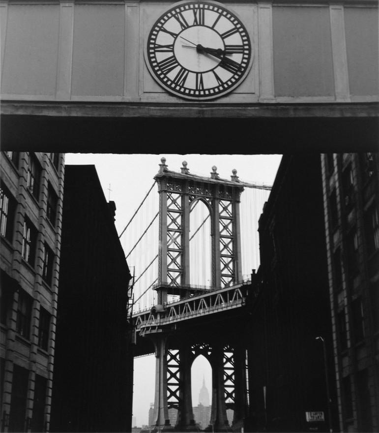 Clock and Bridge, Brooklyn, 1969