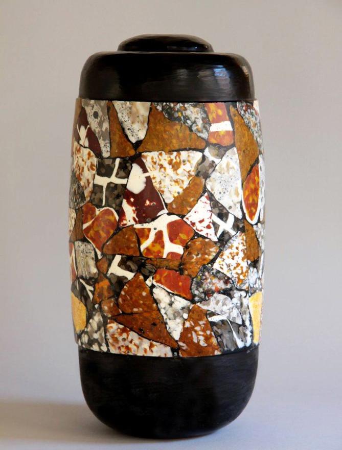 Black and Multicolored Vase, 2013