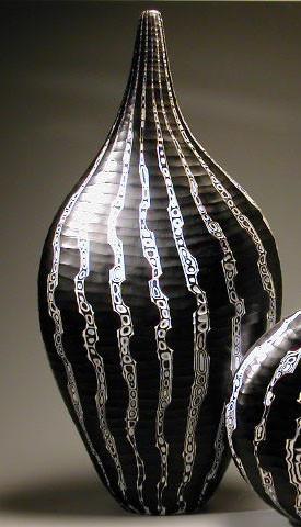 Black and White Murrine Vase, 2004