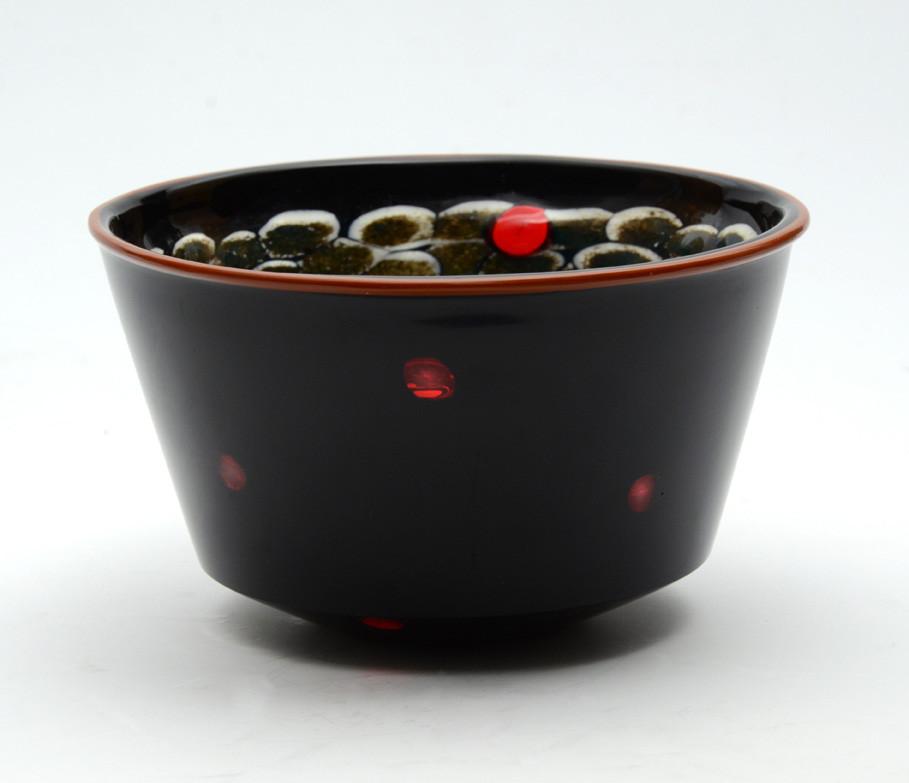 """""""Coppa nera con murrine e polvere"""" Vase, 2001"""