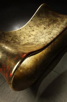 Calamari Bench (Gold), 2011