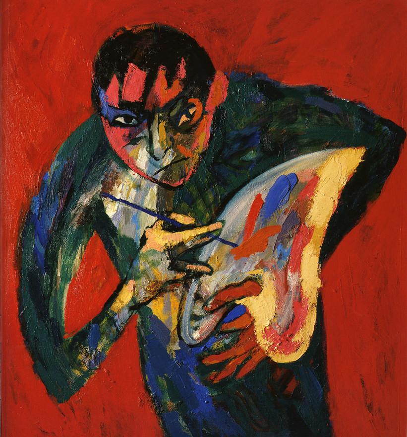 Self-portrait with Palette, 2004