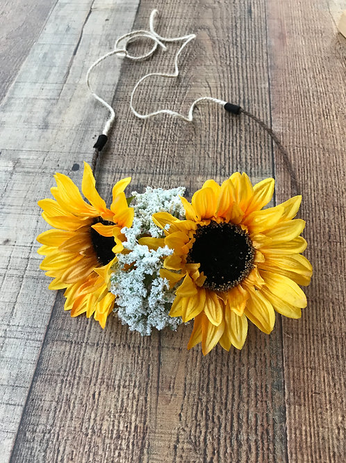Sweet Sunflower Floral Crown