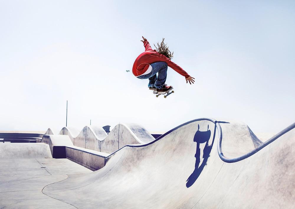pepsi light on skateboard trick