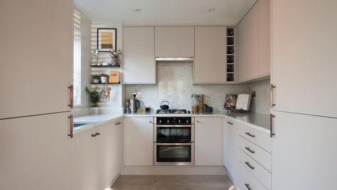 contemporary small kitchen weybridge.11.