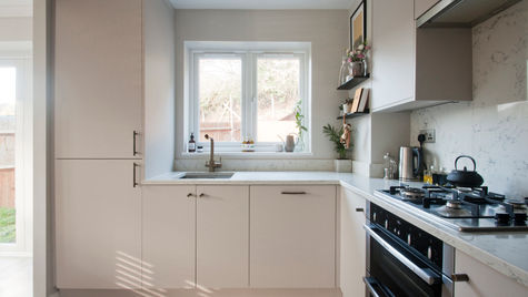 contemporary small kitchen weybridge.8.j