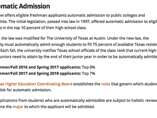 You're in! Key Facts about Texas College Auto Admits