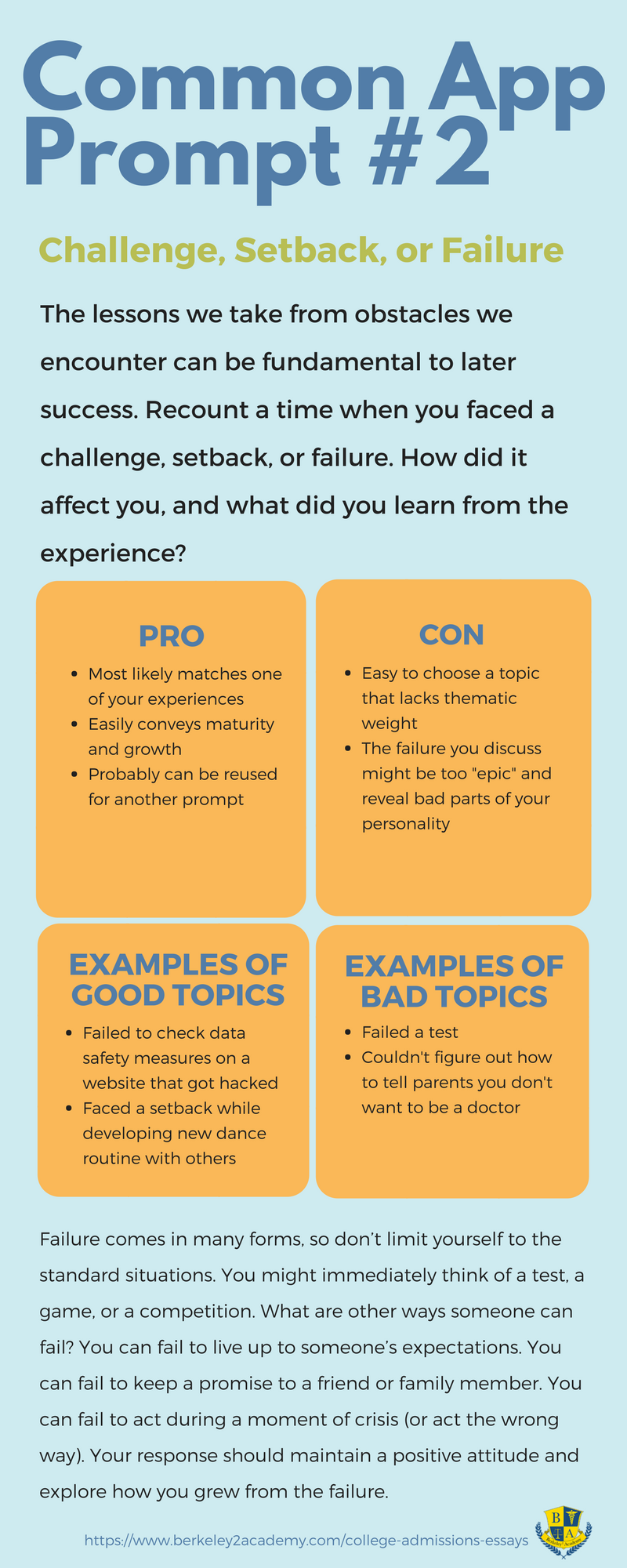 Pros and Cons of Common App Prompt #2