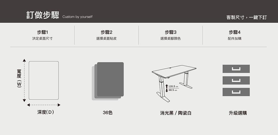 安寶電動升降桌電腦升降桌升降電腦桌升降書桌升降桌訂做決定桌面尺寸桌面貼皮桌腳顏色配件加購