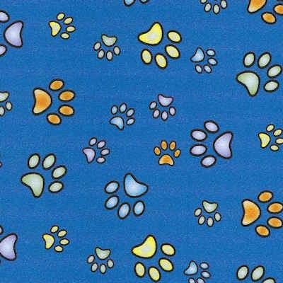 Royal Blue Paw Prints