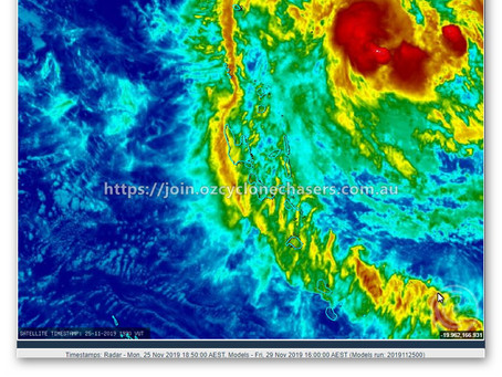 CYCLONE RITA INTENSIFIES QUICKLY TODAY