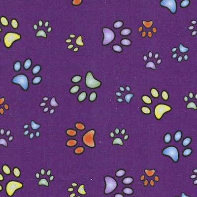 Calming Collar   Purple with Paw Prints