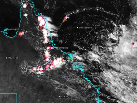 Storms Fire Up and Ex Cyclone moves West
