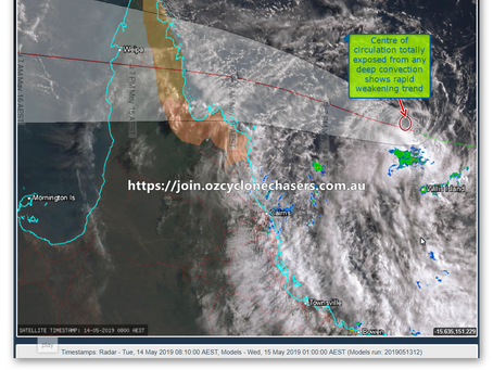 TROPICAL CYCLONE ANN WEAKENS THIS MORNING