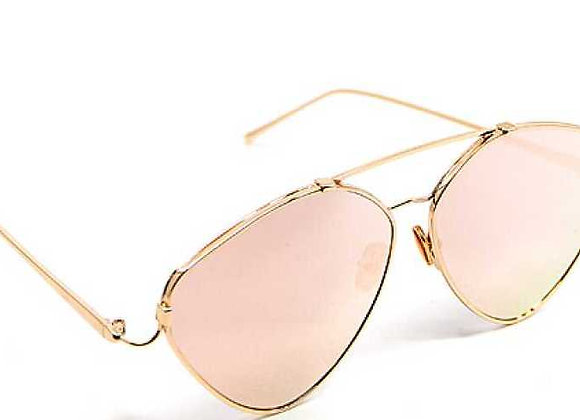 Classic Chic Pink Aviator Sunglasses