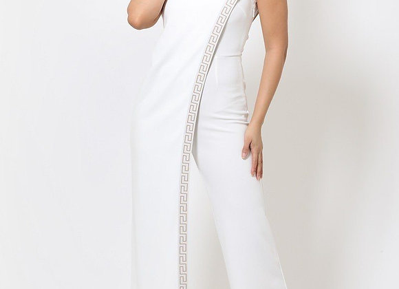 Sexy White One Shoulder Jumpsuit