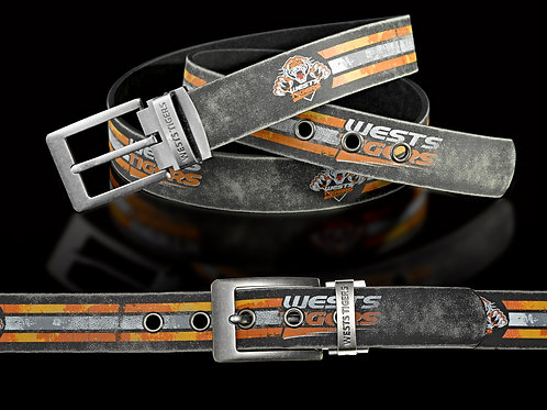 Wests Tigers PU/Leather Colour Belts