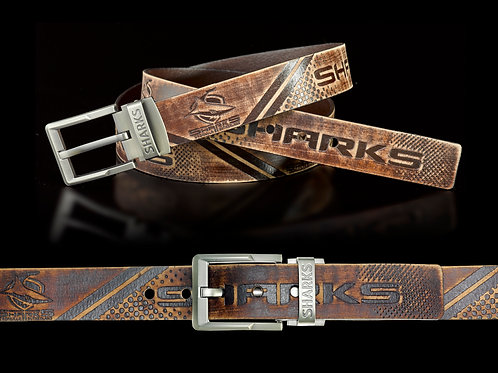 Cronulla Sharks Leather Belts