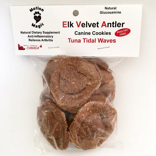 Elk Velvet Antler Canine Cookies   Tuna Tidal Waves
