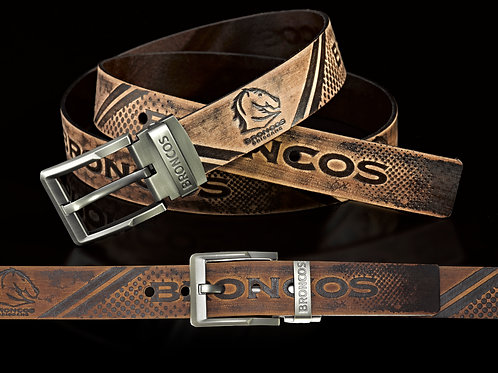 Brisbane Broncos Leather Belts