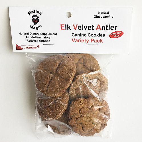 Elk Velvet Antler  Canine Cookies  Variety Pack