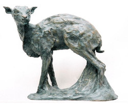 Blue Duiker, the reclusive 'phantom' of the Knysna Forest. Bronze limited edition of 9