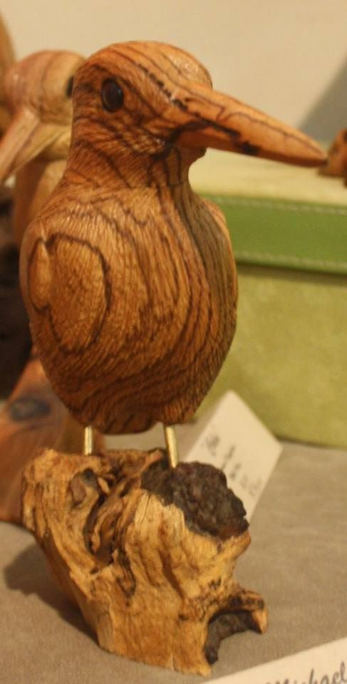 Micheal - Malachite Kingfisher in Zebra Wood