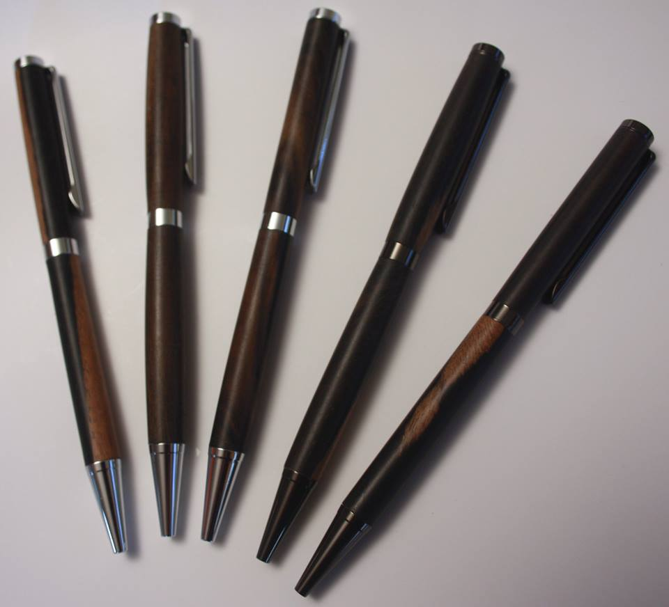 Slimline Pens in Ebony