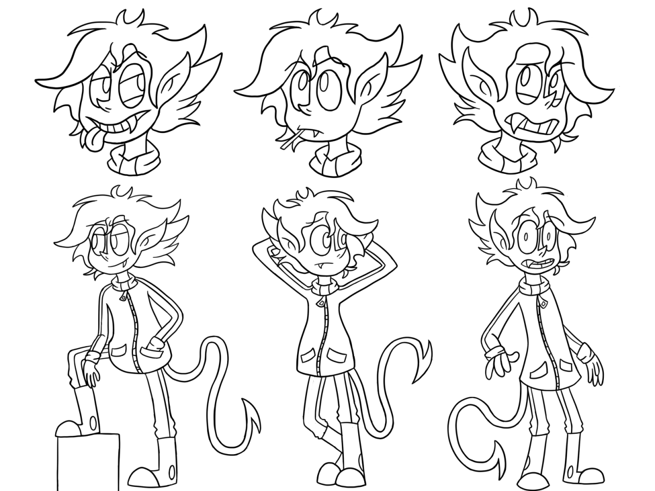 King T (Expressions/Poses)