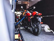 transporter van - a kwikshift motorcycle transport