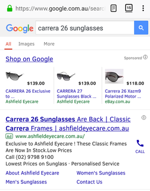 google shopping ads from google shopping campaign
