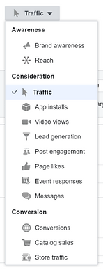 list of facebook actions image