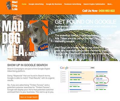 WIX Website built by Mad Dog Lola eMarketing