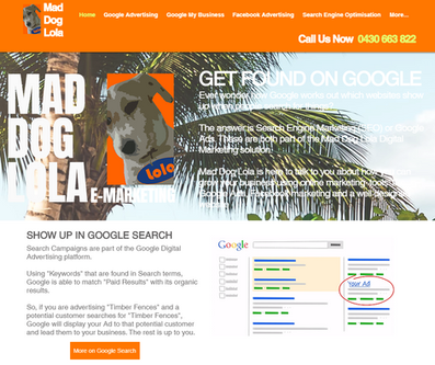 WIX Website built by Mad Dog Lola eMarketing