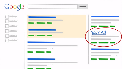 your google ad displaying in google search results
