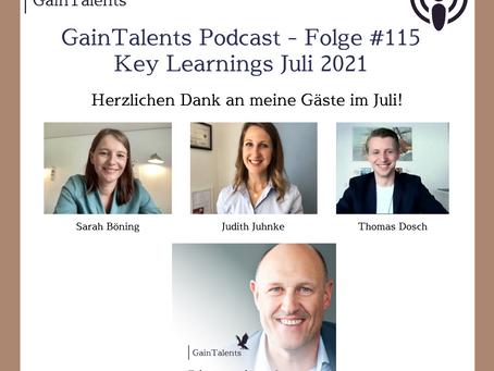 """Key Learnings aus Juli 2021"" mit Sarah Böning, Judith Juhnke und Thomas Dosch"