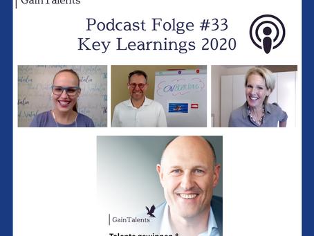 Key Learnings Oktober 2020 - GainTalents Podcast Folge #35