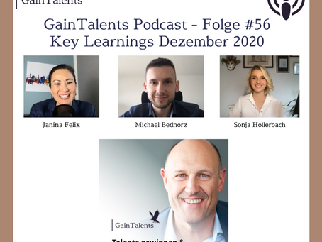 Podcast #56: Key Learnings aus Dezember 2020 - Janina Felix, Sonja Hollerbach und Michael Bednorz