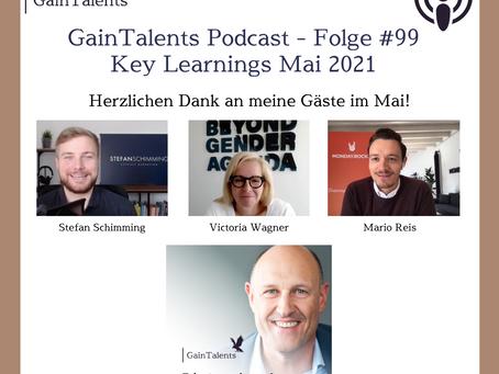 """""""Key Learnings aus Mai 2021"""" mit Victoria Wagner, Mario Reis und Stefan Schimming"""