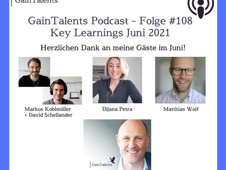 """GainTalents - """"Key Learnings aus Juni 2021"""""""