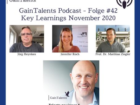 Key Learnings aus November 2020 - Jennifer Roch, Jörg Heynkes und Prof. Dr. Matthias Ziegler
