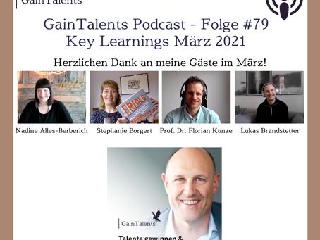 GainTalents Podcast Folge #79: Key Learnings aus März 2021