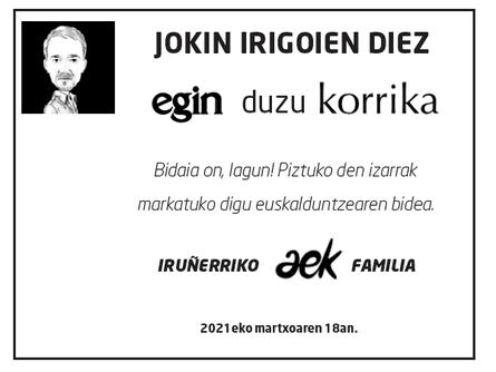 Gero arte, Jokin!