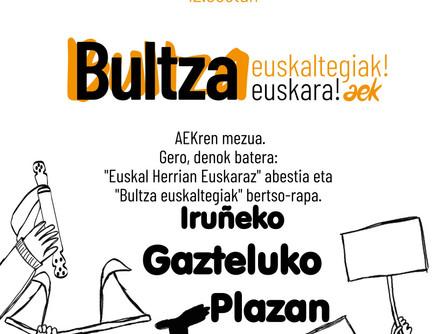 Martxoaren 28an Gazteluko Plazan