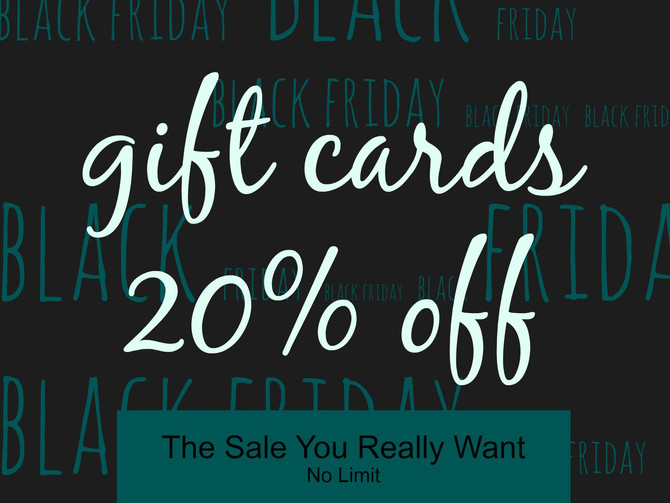 Black Friday... Gift Cards... Stuff you Actually Use!