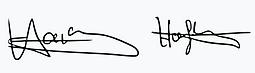 Hardy Hoffmann Unterschrift Grafik
