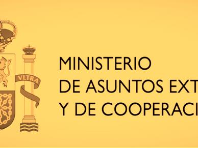 El Ministerio de Asuntos Exteriores y de Cooperación es competente para la concesión del título de T